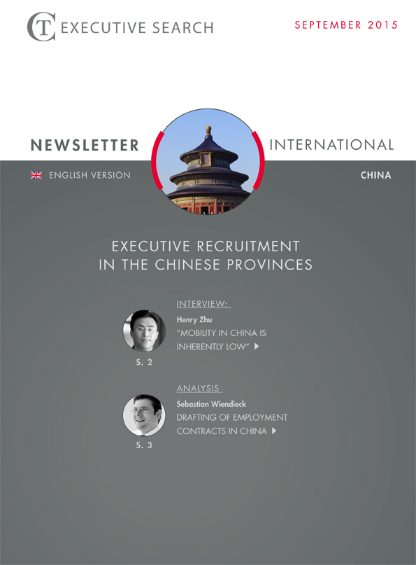 Cover Newsletter CT Executive Search China