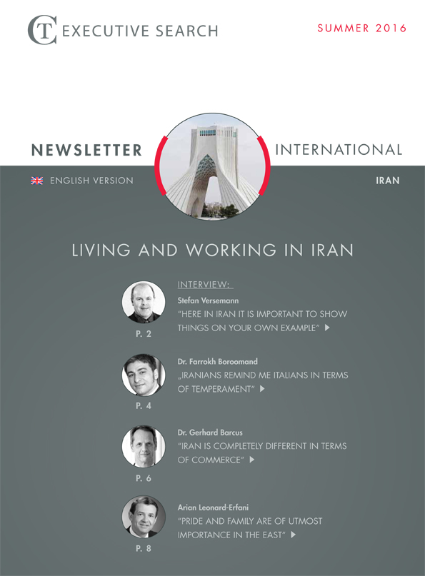 Cover Newsletter CT Executive Search Iran