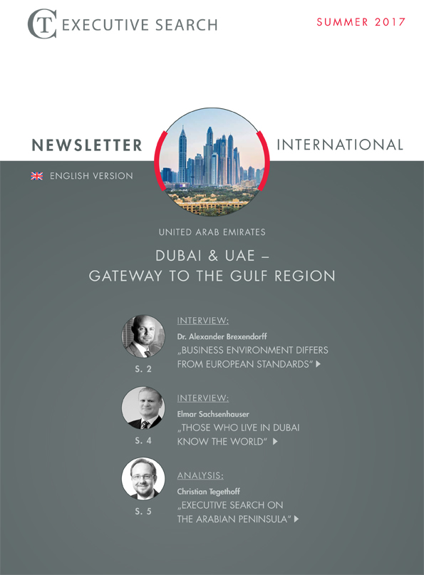 Cover Newsletter CT Executive Search Gulf Region