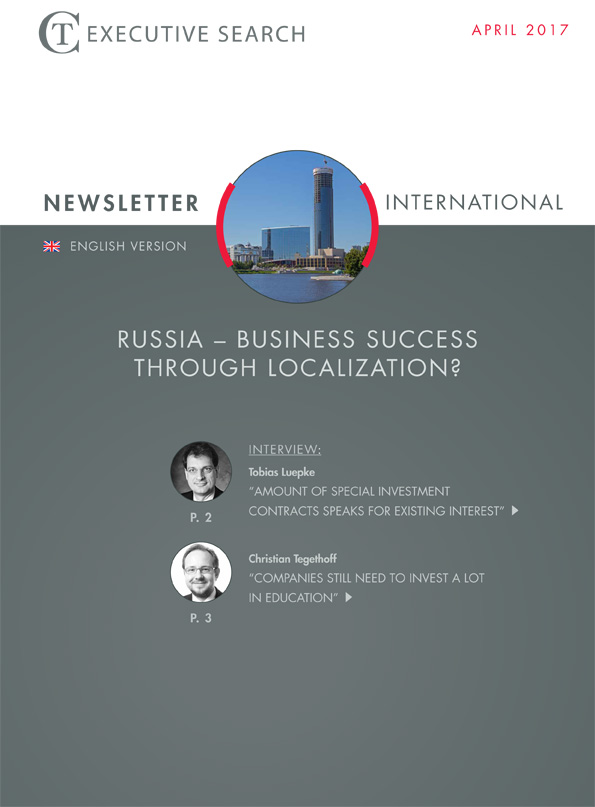 Cover Newsletter CT Executive Search Russia